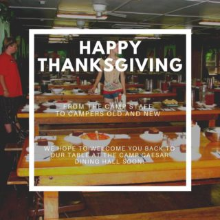 Have a safe and happy Thanksgiving holiday from all of us at the WV State Conservation Camp.