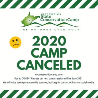 """It is with heavy heart that we have canceled this year's camp session -- sad, but necessary actions for this summer.  Stay safe and keep in contact with us on social media to keep """"your outdoor open door"""" open!"""
